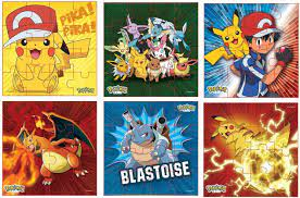 Amazon.com: Pokemon Style Characters Zigsaw Puzzle, Pack of 6, Total 96  Pieces, Assortment 2: Toys