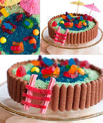 cool easy cakes to make at home. Delighful Home Swimming Pool Cake With Cool Easy Cakes To Make At Home S