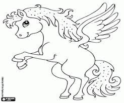 1 Hoorn Paard Kleurplaat Kleurplaten Van Kleine Schattige Eenhoorn