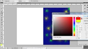 How To Create Greeting Card In Photoshop Cs5 Youtube