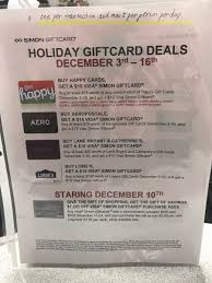 we ve received a tip from a reader that simon malls will once again offer 1 off the activation fees on visa gift cards when you load the card with between