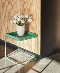 hay tray coffee table green made in