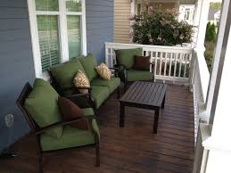 front patio furniture patio table and chairs green deep cushion porch sofa set with