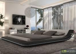 black king platform bed with led lighting