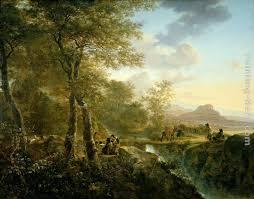 italian landscape with artist painting jan both italian landscape with artist art painting