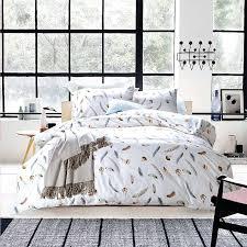 white duvet cover set feather design sets union jack black double