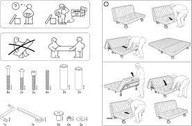 ikea ikea ps sofa bed frame assembly instruction for authentique ikea assembly instructions