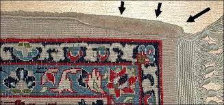 of the rug in the area of the curl a good weaver needs to continually adjust tensions as s he weaves to avoid pulling the edges of the rug under