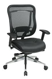 Office Chair With Adjustable Arms 818a 41p9c1a8 Mesh Back And Leather Seat Executive Chair With