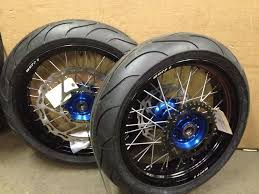 warp 9 17 supermoto wheels with michelin tires yz125 250 yz250f