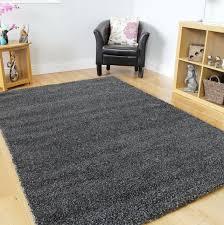 large dark grey rug