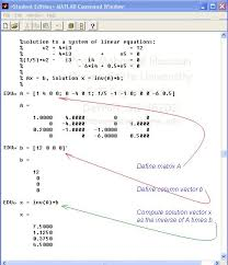 solve linear equations matlab jennarocca