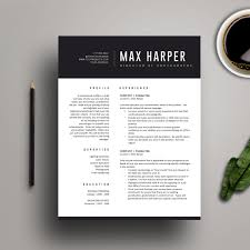 2 Page Resume Template Word Resume Template for MS Word Professional Resume Design Cover 79