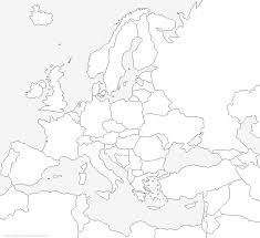Kleurplaat Europa Kaart Van Europa 8
