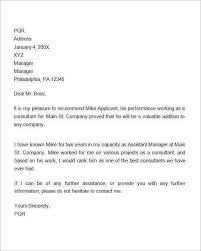 Work Recommendation Letter Work Recommendation Letter Calmlife091018 Com