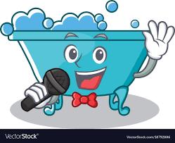 singing bathtub character cartoon style vector image royalty free vector
