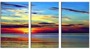 colourful coastal sunset modern canvas art wall decor seascape oil painting wall art with on sunset wall art canvas with colourful coastal sunset modern canvas art wall decor seascape oil