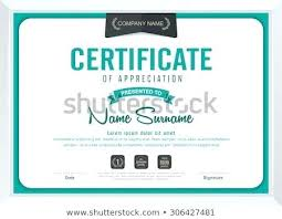 Certificate Template With Modern Illustration Templates For