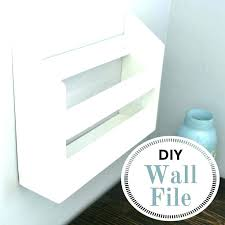metal wall file holder. Wall File Folder Holder Metal Mounted Decorative E