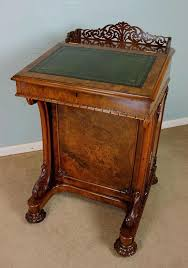 desks victorian writing desk antique burr walnut davenport plans