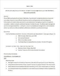 mba graduate resume