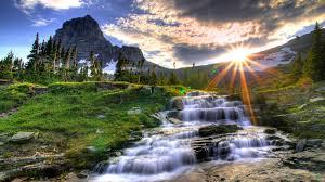 hd widescreen nature backgrounds. Wonderful Backgrounds Beautiful Nature Wallpapers HD  Sun Shine Water Fall Flowing Widescreen  Backgrounds Throughout Hd E