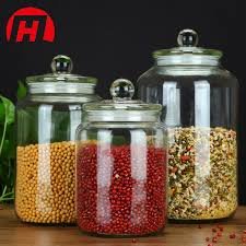 china clear airtight glass cookie candy glass jar for food china glass food jar kitchen glassware