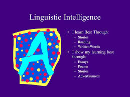 multiple intelligences ppt video online  linguistic intelligence