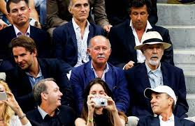 acting legend sir sean connery 85 makes rare public appearance sean connery and bradley cooper watch the 2015 us open men s singles final match photo