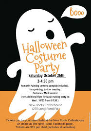 New Roots Coffeehouse Halloween Costume Party Kids Out And