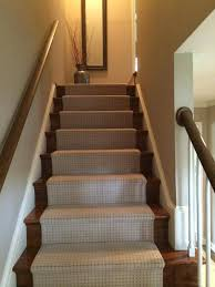 Crofton custom hall runner Brazilian Teak Stairs and Runner