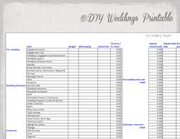 Budget Tracking Template Enchanting Wedding Budget Spreadsheet Printable Wedding Budget Template Etsy