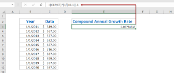 Add Cagr Line To Excel Chart How To Calculate Average Compound Annual Growth Rate In Excel