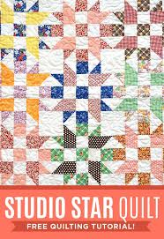 247 best Sewing & Craft Videos images on Pinterest & Make a Studio Star Quilt with this Free Tutorial using Precuts! Also known  as the Adamdwight.com