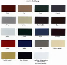 Central States Metal Roofing Color Chart Metal Asphalt Color Options Bliss Brothers Roofing