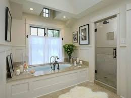 Bathroom:Relaxing Spa Bathroom Design With Wooden Bench Seating And Cream  Tile Wall Ideas Interesting
