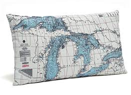 Nautical Chart Pillows Great Lakes Indoor Outdoor Nautical Chart Throw Pillow