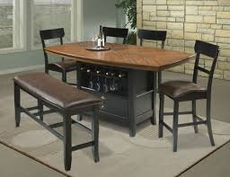 custom high top dining table and chairs with interior square black
