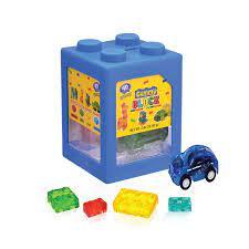 Kẹo dẻo đồ chơi xếp hình 4D hộp 35 - 40g, chất lượng quôc tế, đồ chơi xếp  hình cho bé