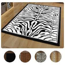 modern leopard animal print area rug 8x11 zebra safari carpet actual 7 8 x10