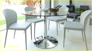60 inch glass table top round dining modern chrome pedestal 18 x decor