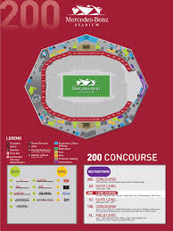 Atlanta Falcons Seating Chart Mercedes Benz Stadium Guide Atlanta United Fc