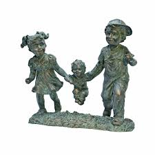 Small Picture Amazoncom Design Toscano Swing Time Boy and Girl Garden Statue