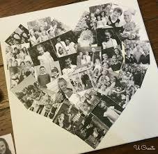 diy heart photo collage diy heart photo collage u create