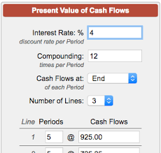 online cash flow calculator present value of cash flows calculator