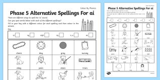 'here, we start introducing alternative look through our phonics worksheets to help your child put their phonics learning into practice Higher Ability Phase 5 Colour By Spelling Letters And Sounds Ai