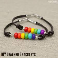 diy leather bracelet rainbow crafts unleashed 1