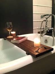 bathtub book holder superb wooden bath with tub wood small size floating bathroom caddy wine candle