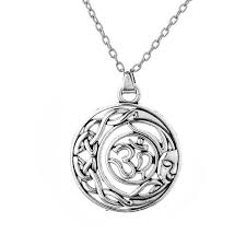 whole myshape jewelry religious necklace aum om ohm hindu sanskrit knot moon sun symbol adjustable necklaces man and woman fast silver chains