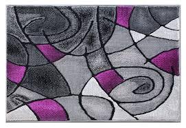 masada rugs modern contemporary area rug mat purple grey black 2 feet x 3 feet